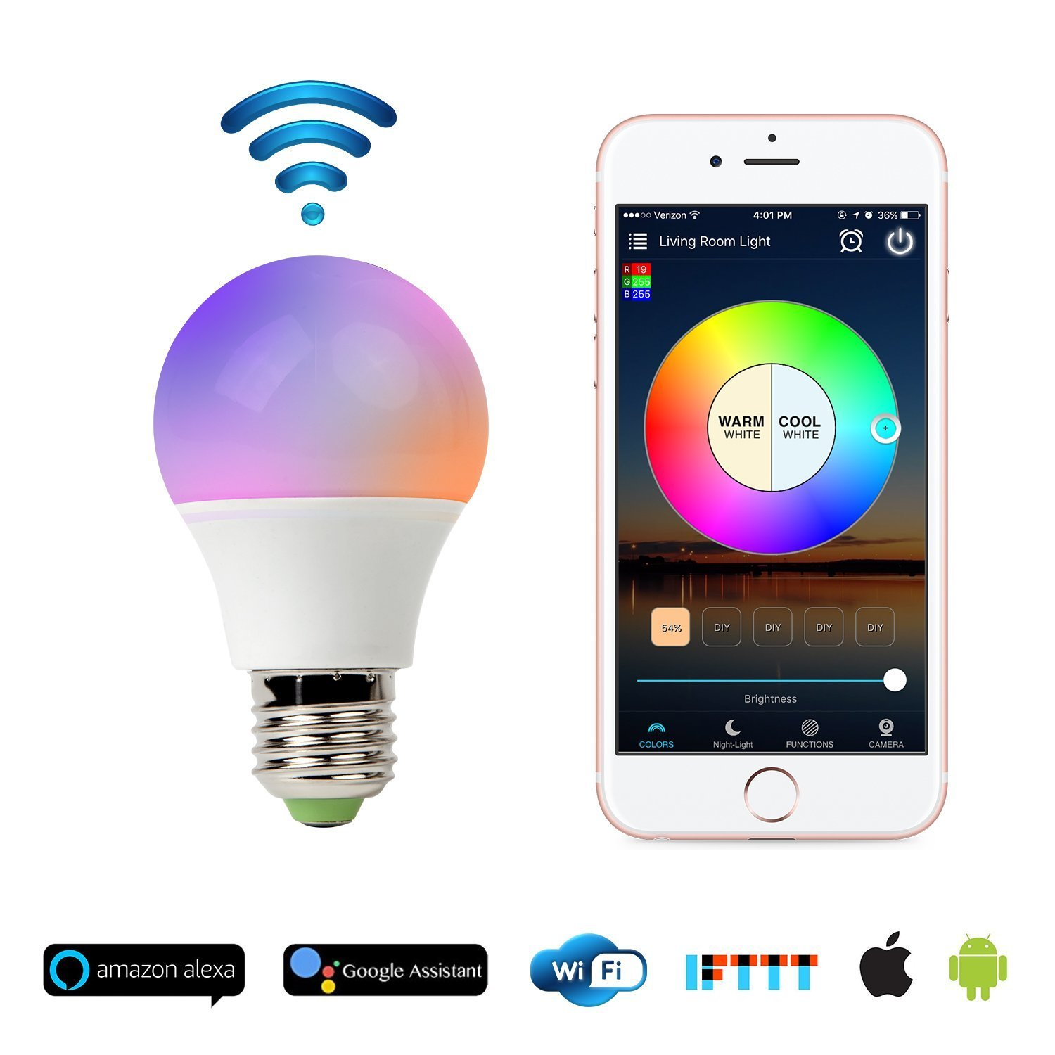 MOCREO Color LED Smart Light bulb