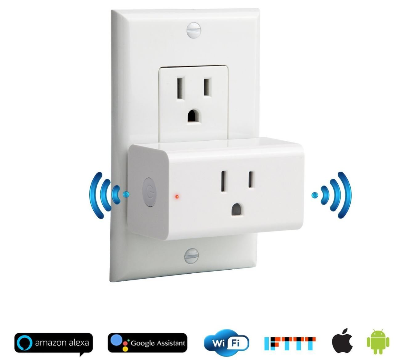 MOCREO Mini Smart Plug, WiFi Enabled, Works with Amazon Echo Alexa and Google Home Assistant